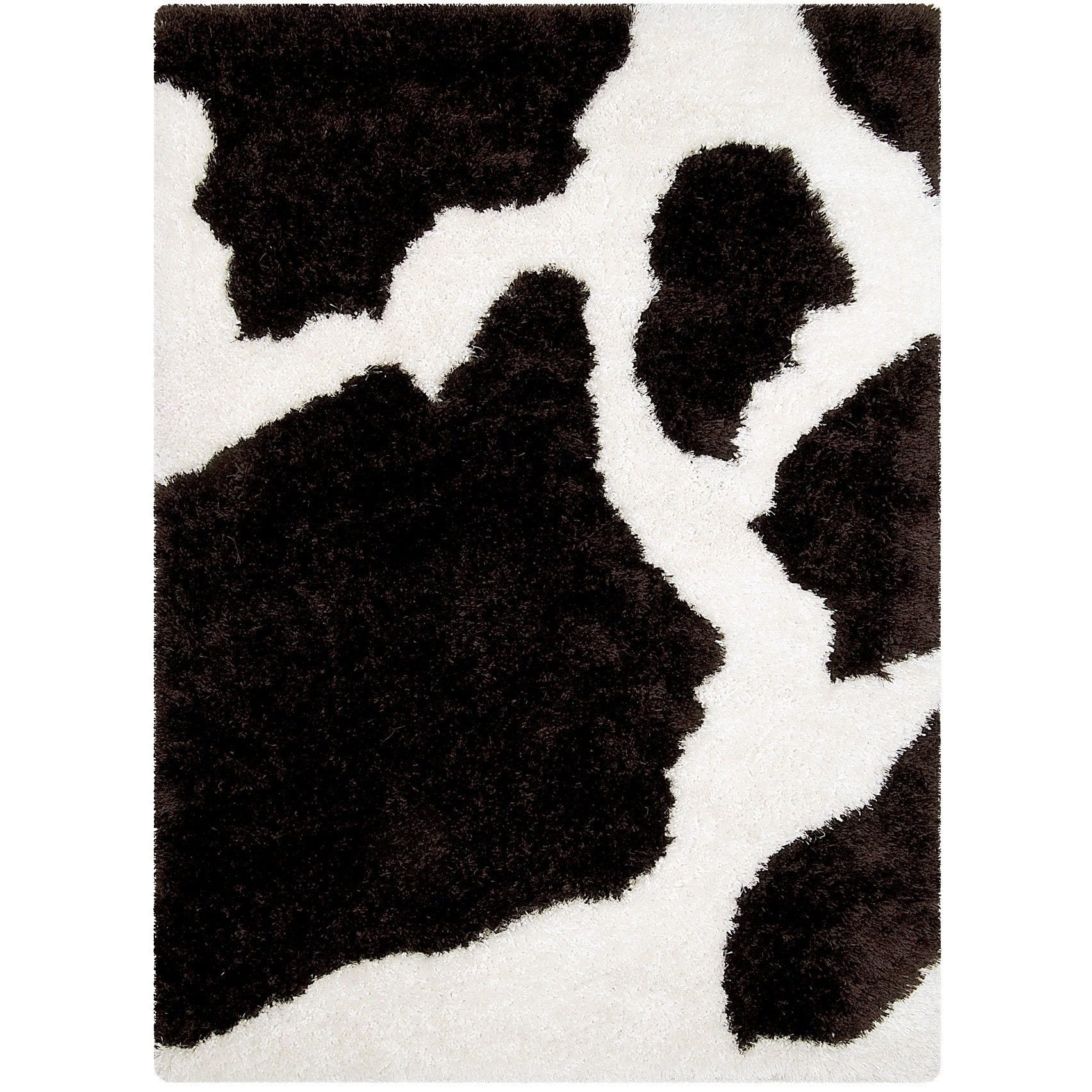 LYKE Home  Jumbo Thick Cow Skin Brown Shag Area Rug - 7'7 x 10'5