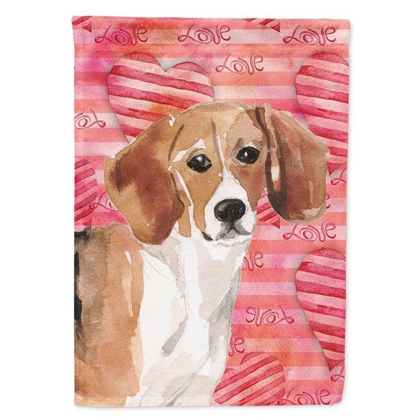 Beagle Love Garden Flag Com, Beagle Garden Flag
