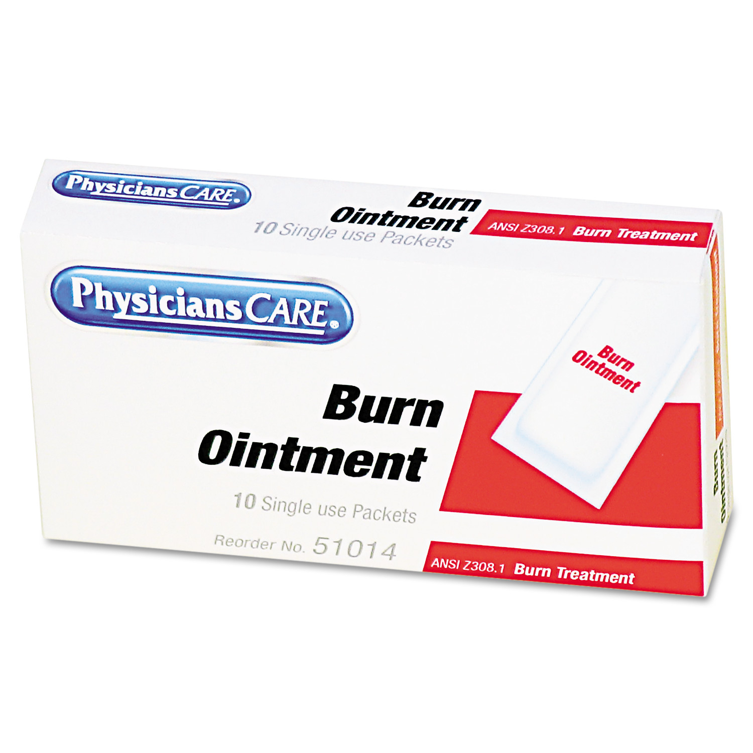 PhysiciansCare by First Aid Only First Aid Kit Refill Burn Cream Packets, 12/Box