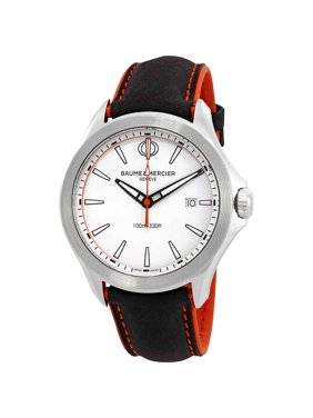 Baume & Mercier Clifton White Dial Mens Watch 10410