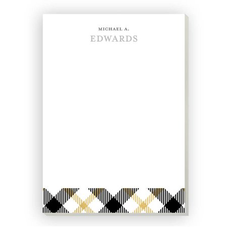 Plaid Personalized Notepad