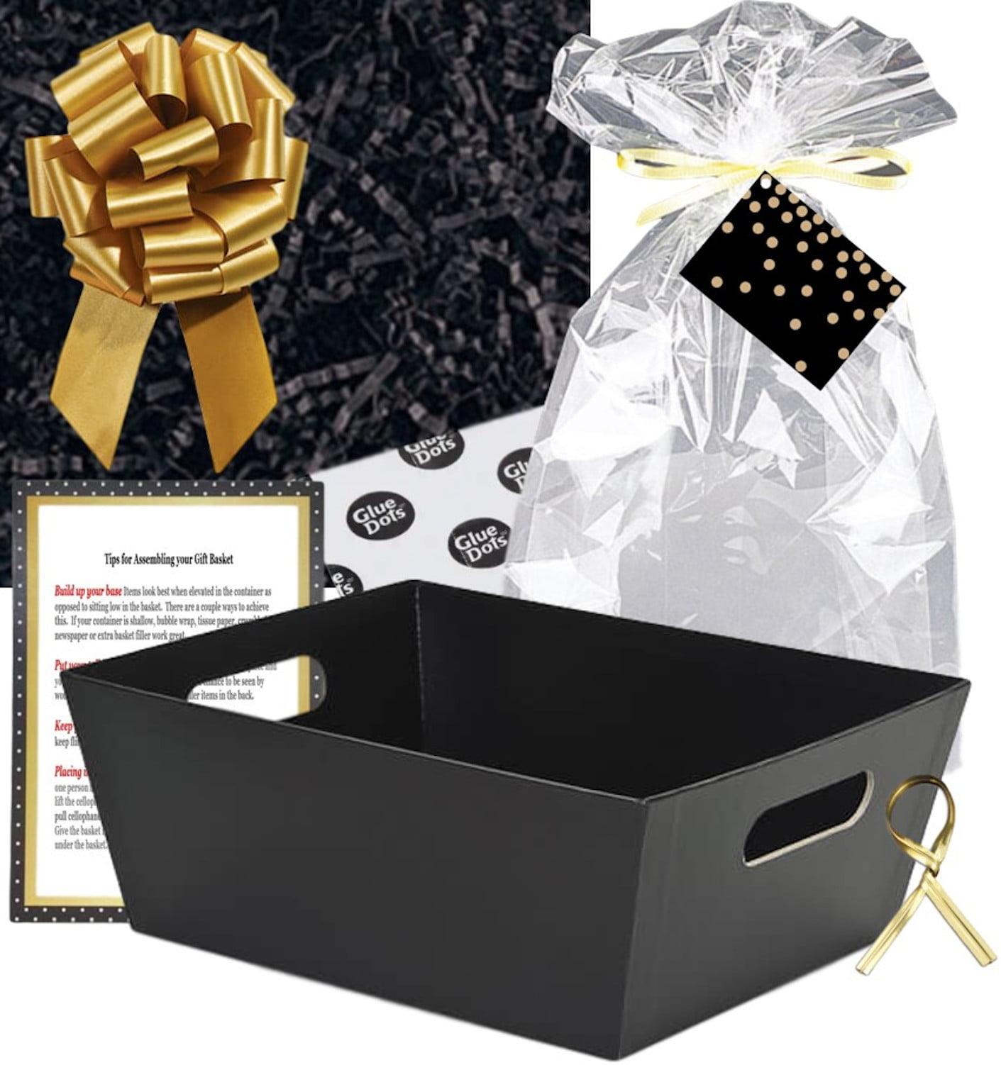 White Dot Cellophane Hamper Gift Wrap Birthday Free Pull Bow Curling Ribbon