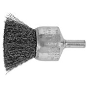 """ADVANCE BRUSH 82974 1"""" CRIMPED WIRE END BRUSH .010 CS WIRE 1/4"""" SHAN"""