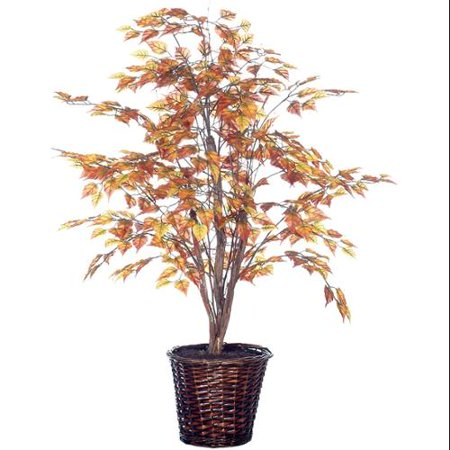 4 39 potted artificial golden autumn birch tree - Potted autumn flowers ...