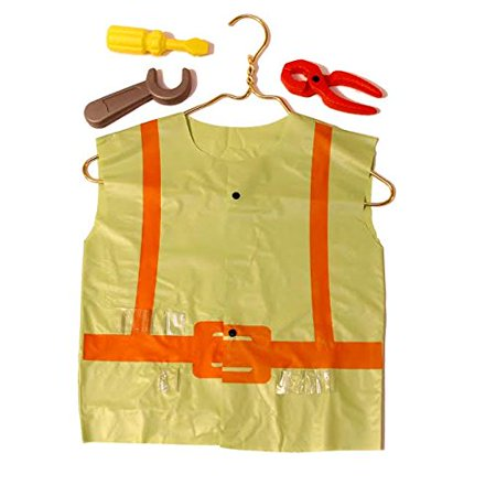 Dazzling Toys Construction Vest and Tool Set - Set Including Some Plastic Construction Tools, As a Screwdriver Etc.](Construction Vest For Kids)