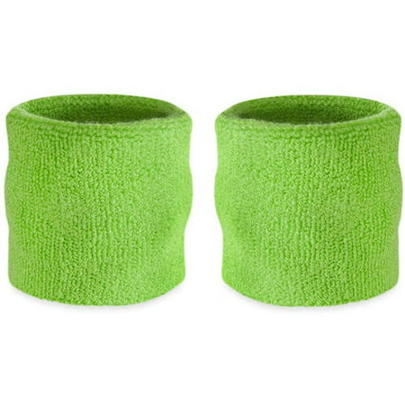 Wrist Sweatband Pair - Also Available in Neon Colors - Athletic Cotton Terry Cloth Wristbands for Sports (Wristband In Spanish)