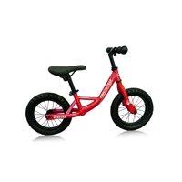 "12"" Push Bikes Steel Frame Air Tire Grip Children Balance Bicycle, Color: Frame Red, Wheel Black"