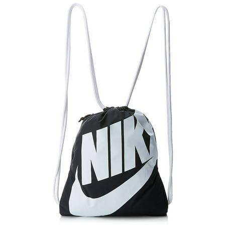 Nike Heritage Gym Sack (BLACK/WHITE/WHITE)