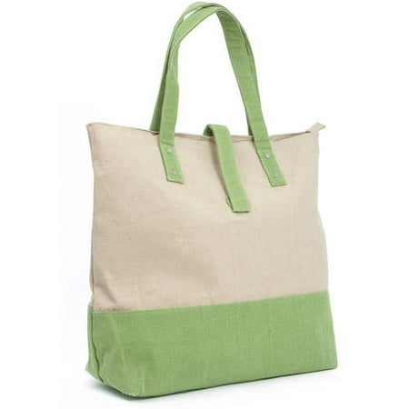 Magid Two Tone Canvas Tote Handbag