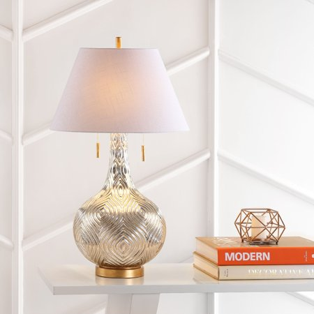 Highland 30 75 Quot Gourd Glass Led Table Lamp Mercury Silver