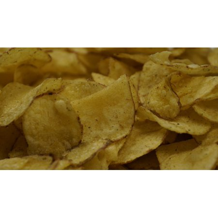 LAMINATED POSTER Fried Snack Fat Slice Crisps Potato Chips Food Poster Print 24 x 36