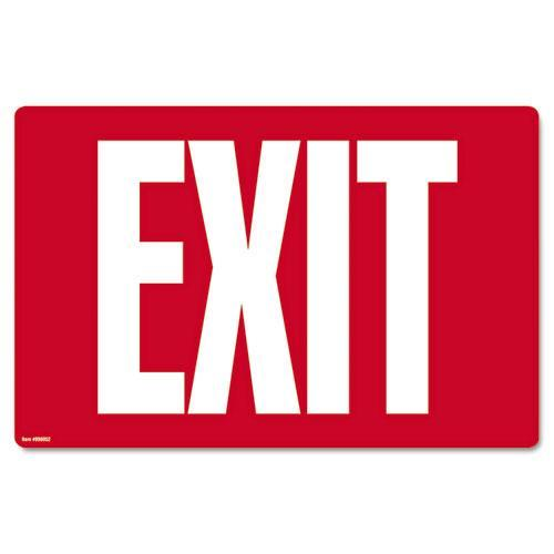 Consolidated Stamp Exit Glow-In-The-Dark Sign in Red  (Set of 2)