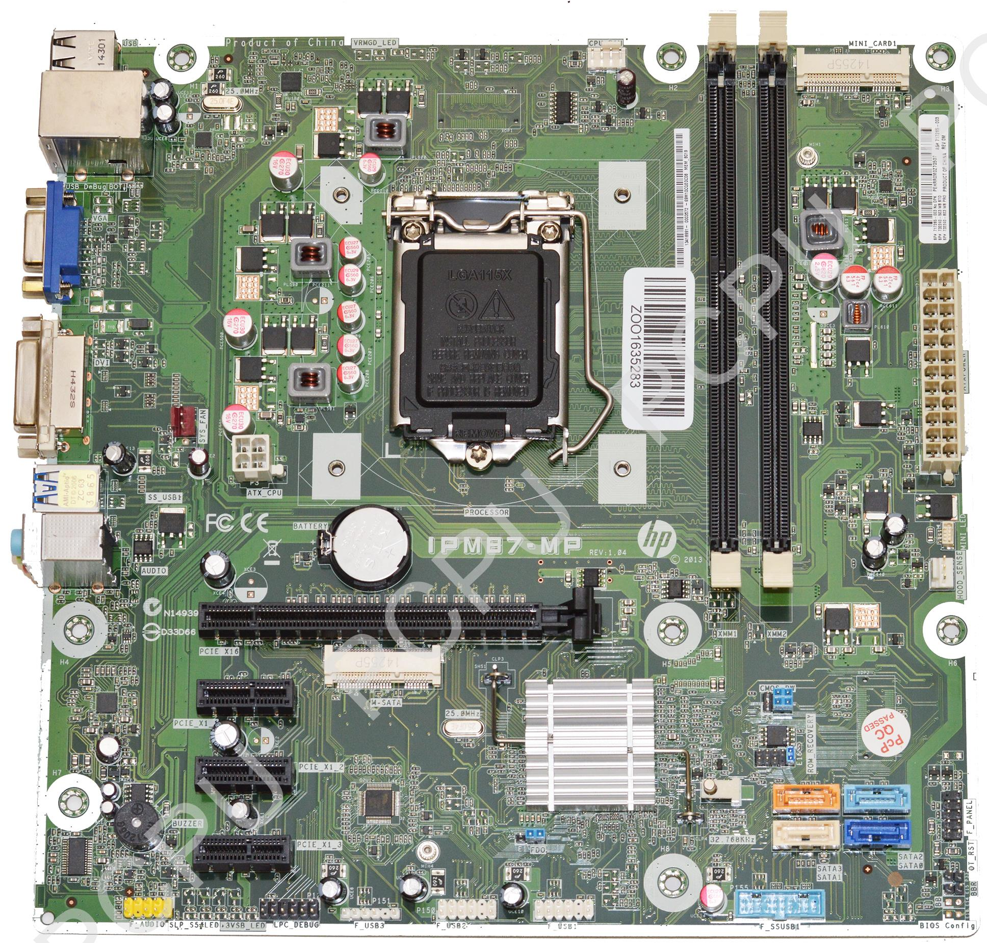 732240-503 HP Envy 700 Memphis-B Intel Desktop Motherboar...