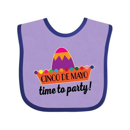 Cinco De Mayo Fiesta Party Sombrero Baby Bib - Party Sombreros