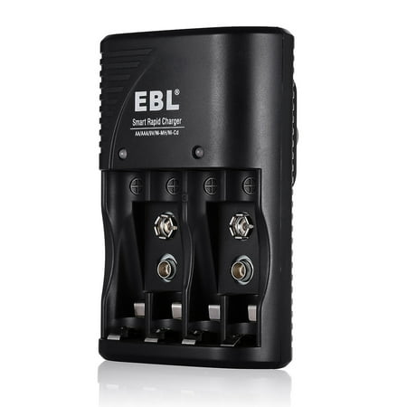 - EBL Battery Charger for AA AAA 9V Ni-MH Ni-CD Rechargeable Batteries