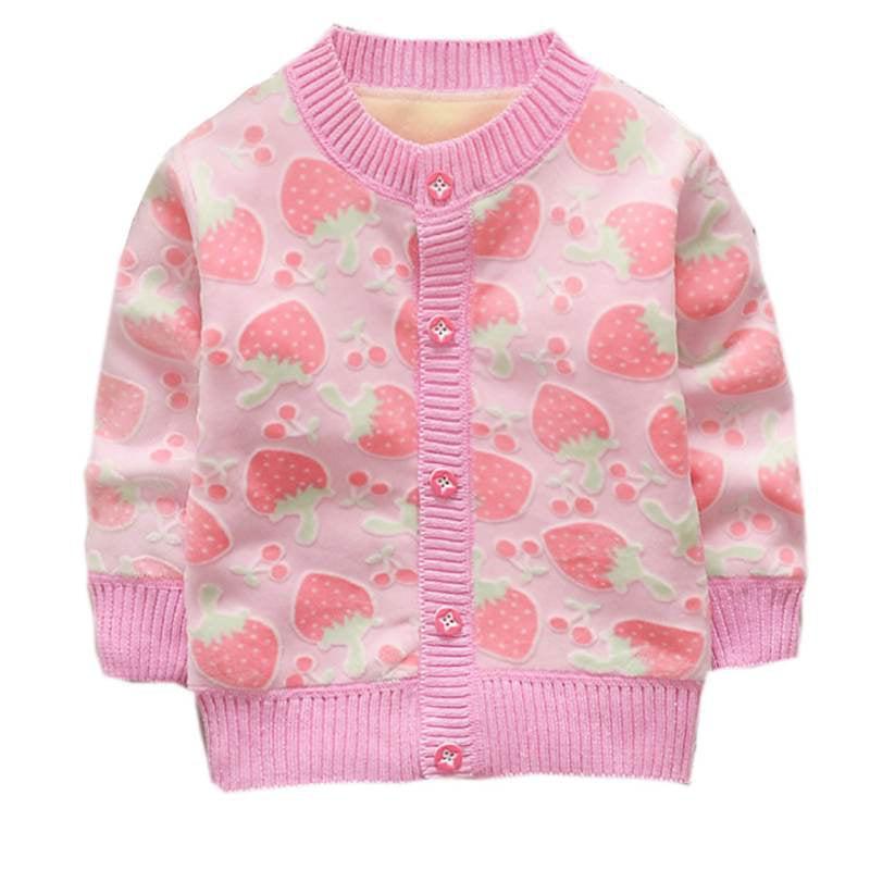 BOBORA Baby Girls Boys Knitted Cardigan Sweatshirt Cute Animal Knitting Patterns Knitwear Sweater for Mother and Child
