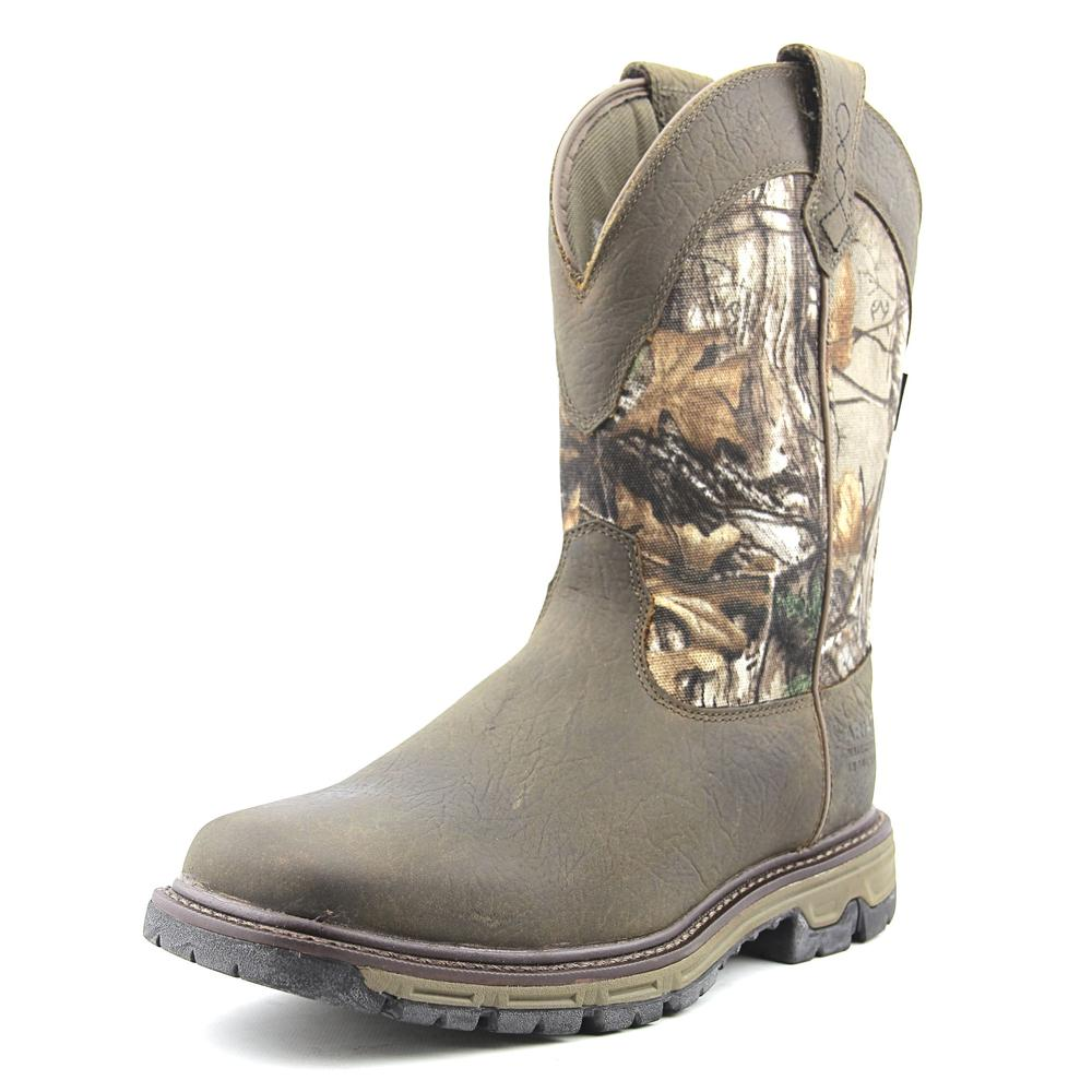 Ariat Conquest Pull On Men Round Toe Leather Hunting Boot by Ariat