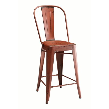 - Coaster Company Lahner Traditional Counter Chair Set of Two, Red
