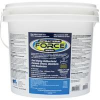 2XL, TXLL400, Antibacterial Force Wipes Dispensing Bucket, 1 Each, White