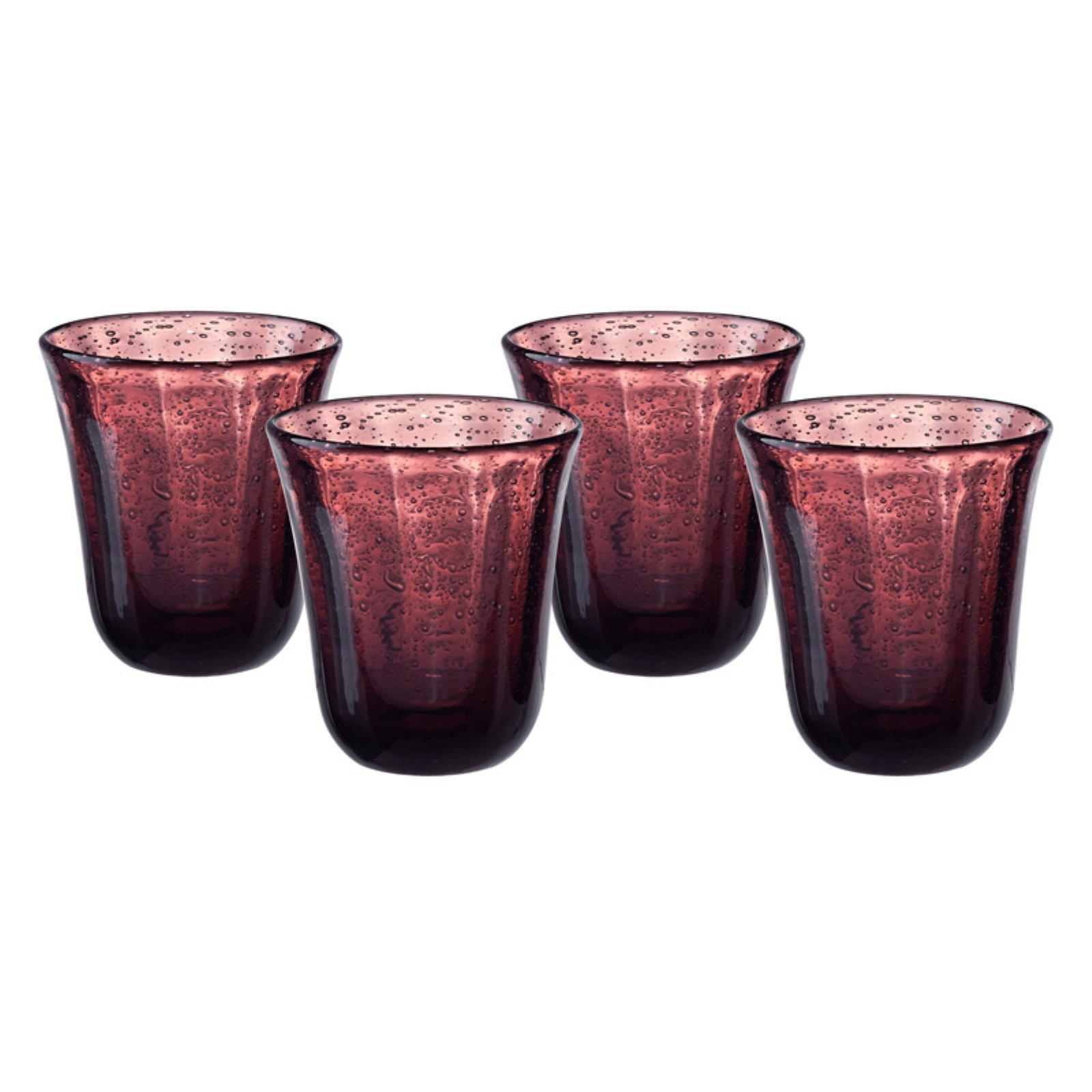 Artland Savannah Bubble DOF Glass - Set of 4