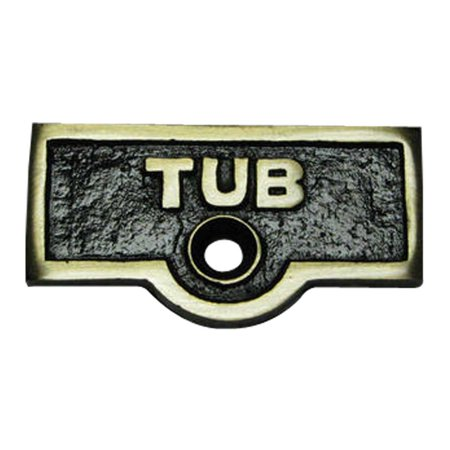 - Switch Plate Tags TUB Name Signs Labels Antique Brass | Renovators Supply