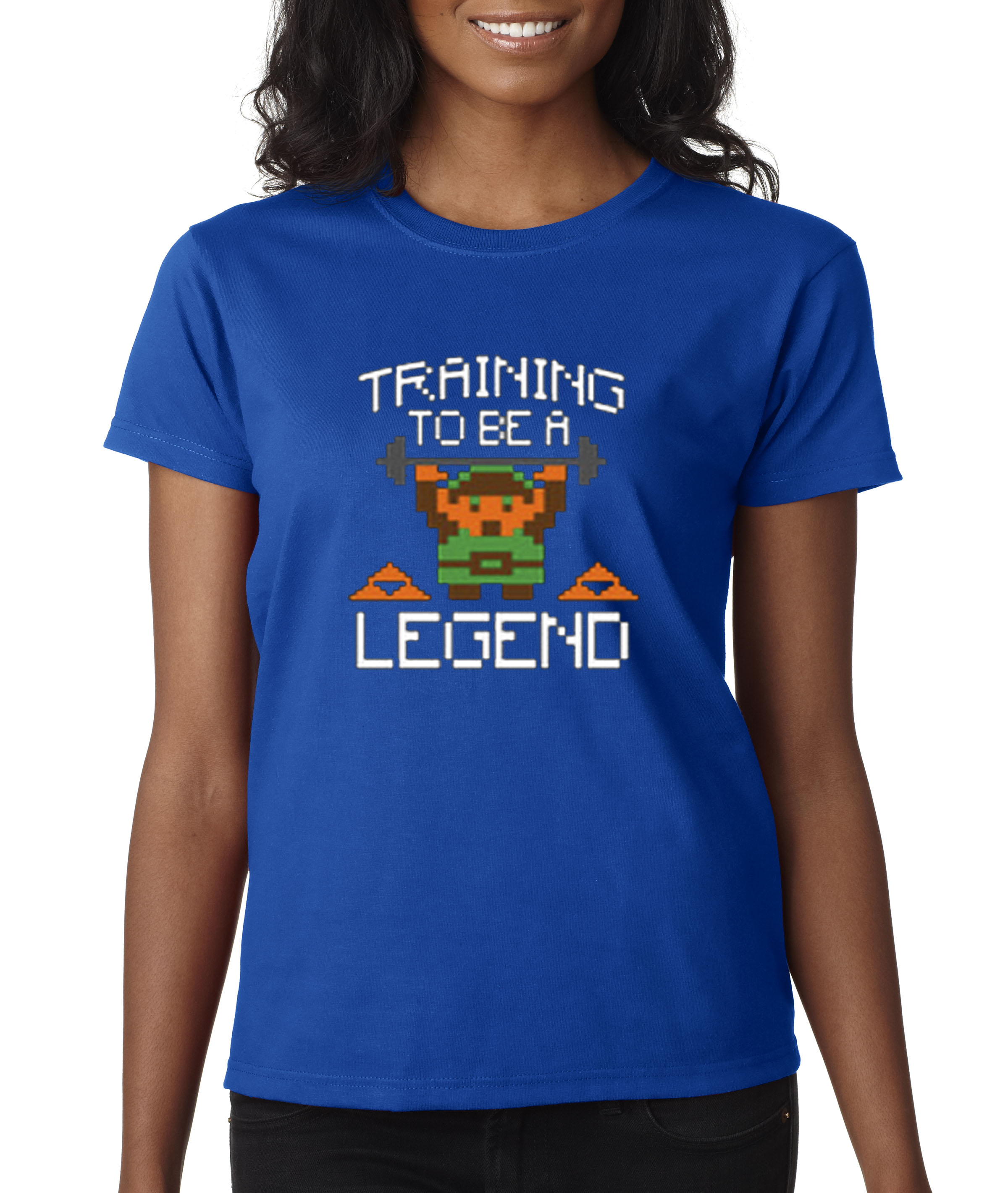 New Way 410 - Women's T-Shirt Training To Be A Legend Zelda Link 8-Bit