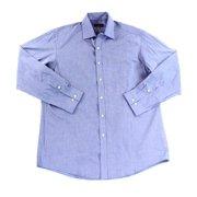Club Room NEW Blue Men Size 16 Regular Fit Woven Button-Front Shirt