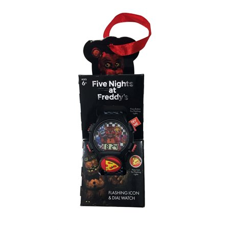 Five Nights at Freddy's Flashing Icon and Dial Watch, Use as Christmas Ornament Holiday Gift FREE (Wholesale Witch)