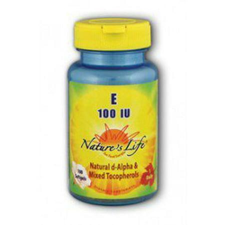 La vitamine E 100 UI Nature's Life 100 vcaps