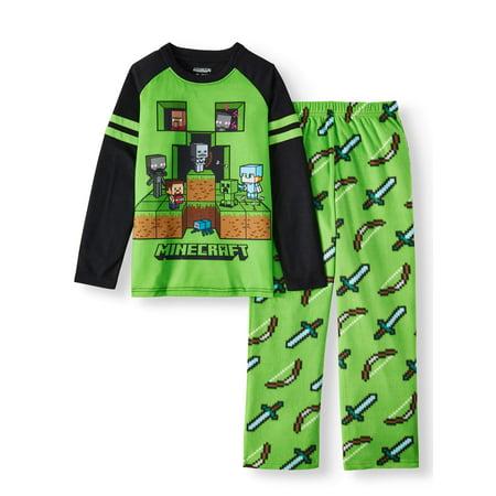 Minecraft 2-Piece Long Sleeve Long Pant Pajama Set (Little Boy & Big Boy)