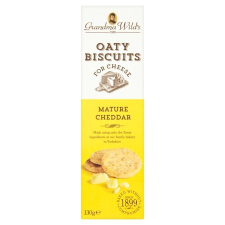 Grandma Wild's Oaty Biscuits for Cheese, Mature Cheddar, 130g Box ()