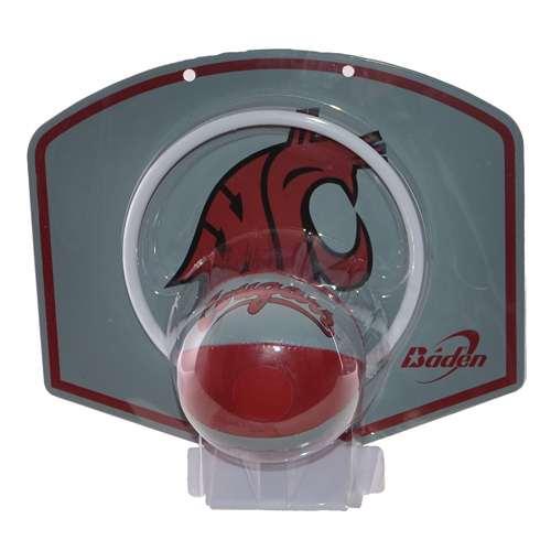Washington State Cougars Mini Basketball And Hoop Set