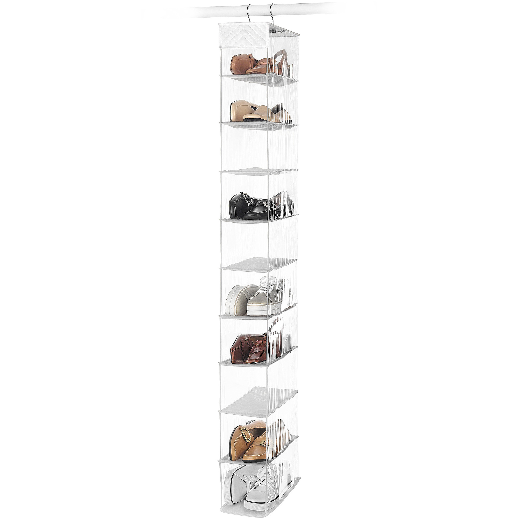 Whitmor 10 Section Hanging Shoe Shelf White by Whitmor Inc