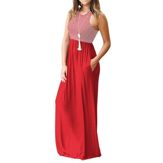1d444ffe3ce Noroomaknet - Noroomaknet Women s Maxi Dresses Summer Casual ...