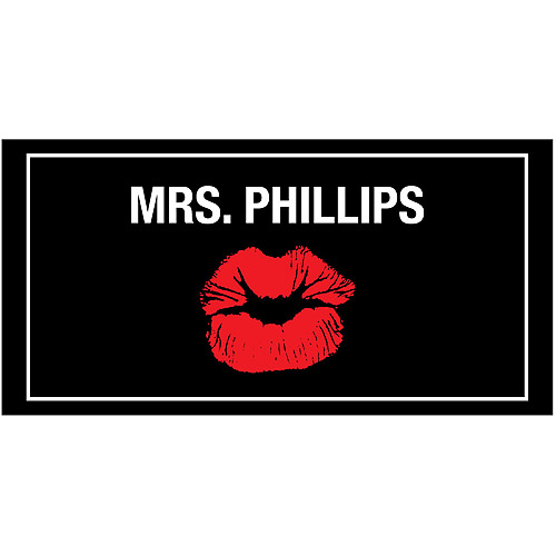 Personalized Red Lips Beach Towel - For the Bride