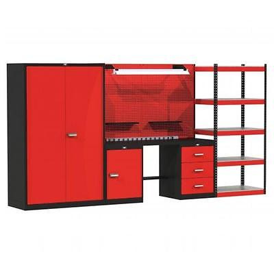 132 W x 24 D x 78 H in. Fort Knox MIXED STORAGE Modular Workbench System With... Tools [Istilo150647] by GSSTools