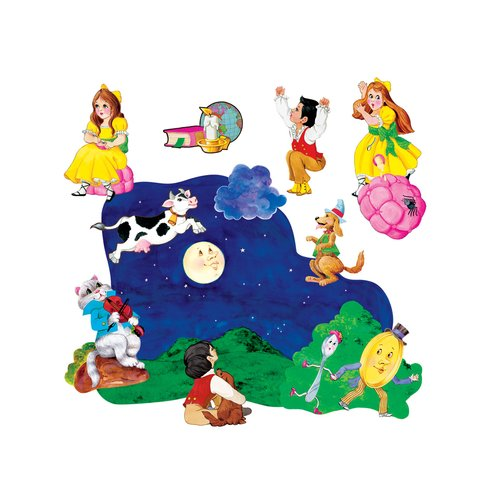 Little Folks Visuals 2 Nursery Rhymes Bulletin Board Cut Out (Set of 2)