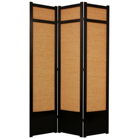Oriental Furniture Jute Fiber Shoji Screen Room Divider 84