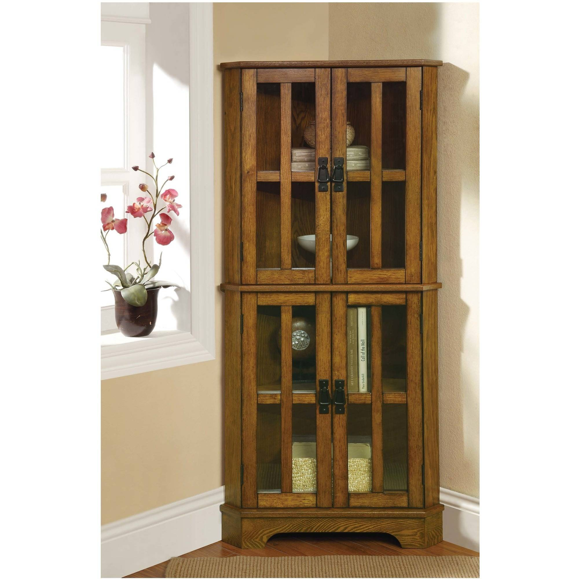 Coaster Company Curio Cabinet with Window Panel Styled Doors by Coaster Company