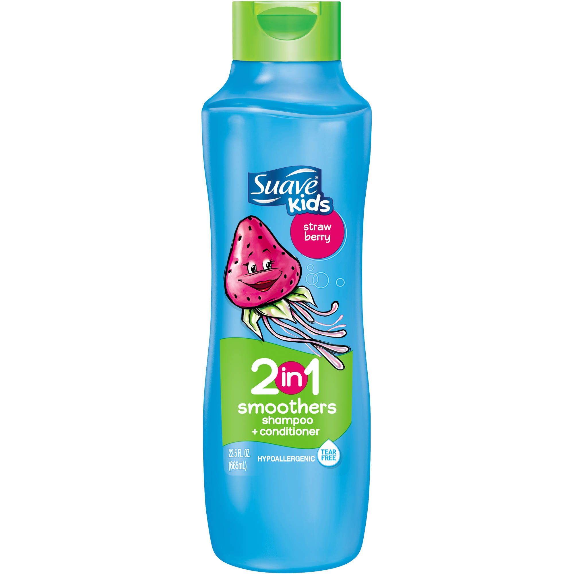 Suave Kids Strawberry Smoothers 2 in 1 Shampoo + Conditioner, 22.5 fl oz