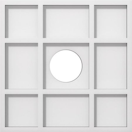 Ekena Millwork CMP12RK-03000 12 in. OD x 3 in. ID Square Rubik Architectural Grade PVC Contemporary Ceiling Medallion - image 1 of 1