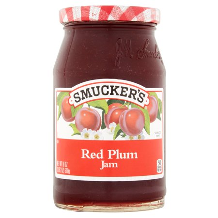 ((3 Pack) Smucker's Red Plum Jam, 18 oz)