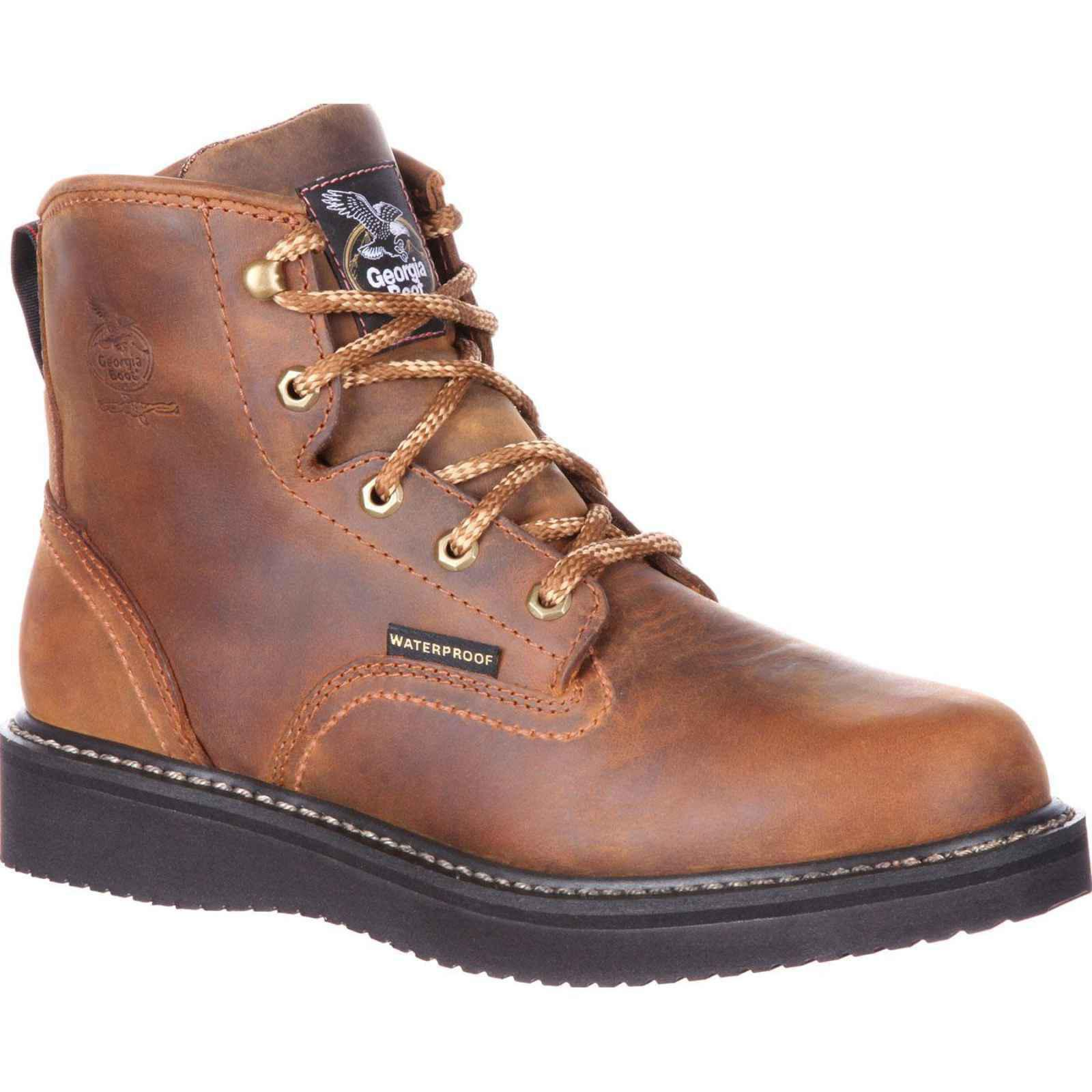 Men's Georgia Boot GB00124 Waterproof Wedge Work Boot by Georgia Boot