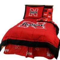 Nebraska Cornhuskers 2 Pc Comforter Set, 1 Comforter, 1 Sham, Twin