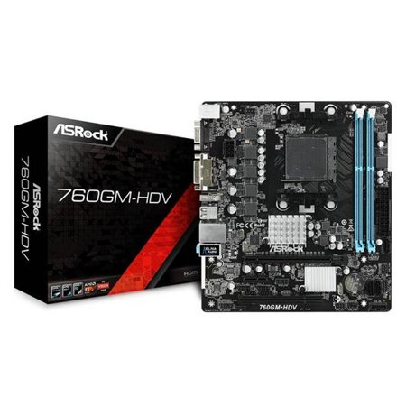 ASRock 760GM-HDV Socket AM3 Plus SATA2 & USB 2.0 Micro ATX