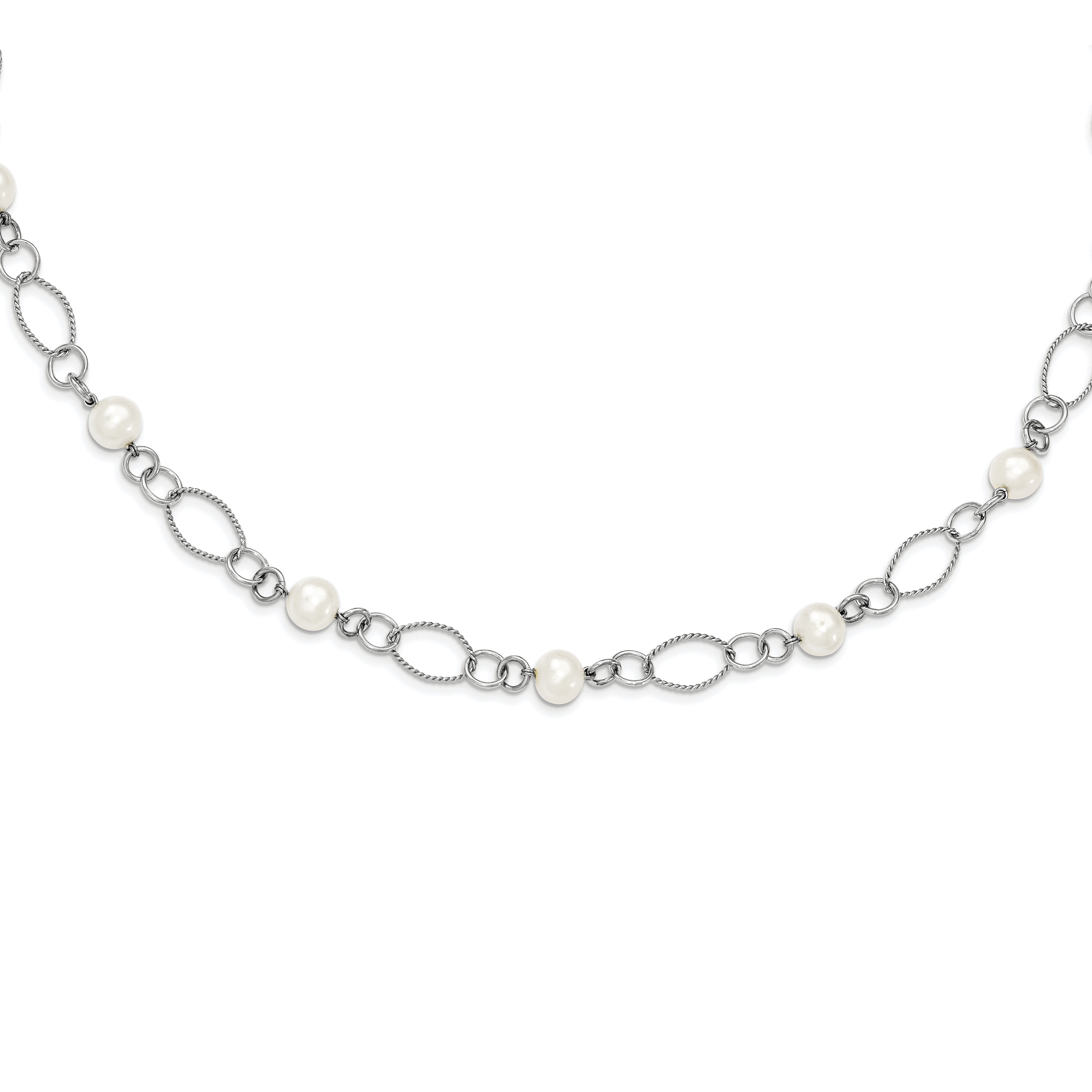 Sterling Silver Freshwater Cultured Pearl Necklace by