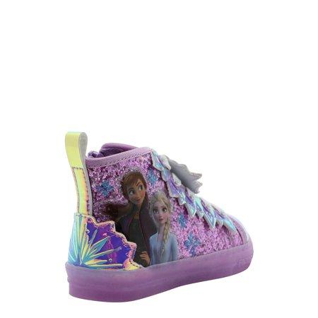 Disney Frozen 2 Anna & Elsa Winter Glitter High Top Sneaker (Toddler Girls)