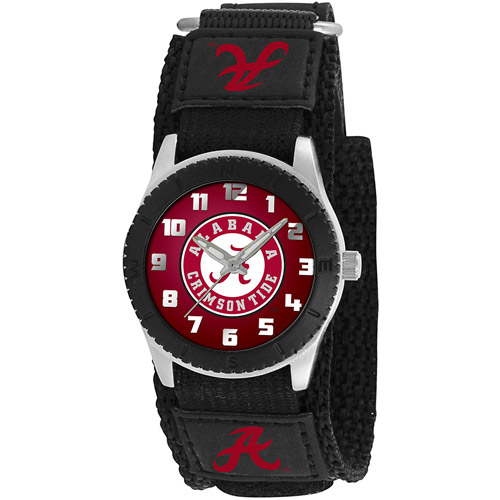 Game Time NCAA Kids' University of Alabama Crimson Tide Rookie Series Watch, Black Velcro Strap