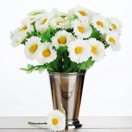 BalsaCircle 108 Small Daisy Silk Artificial Silk Flowers - DIY Home Wedding Party Bouquets Arrangements Centerpieces