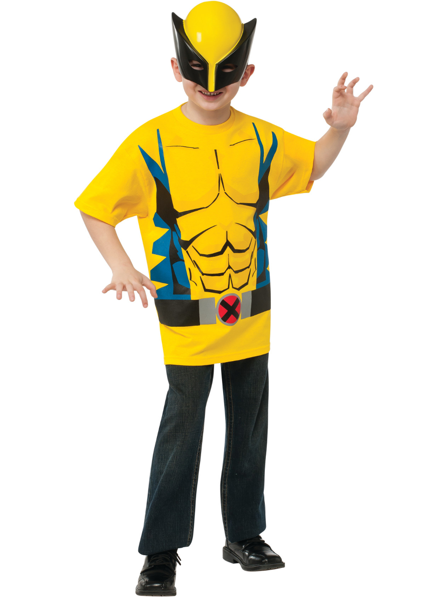 Child's Marvel Comics Universe X-Men Wolverine T-Shirt With Mask by Rubies Costume Co